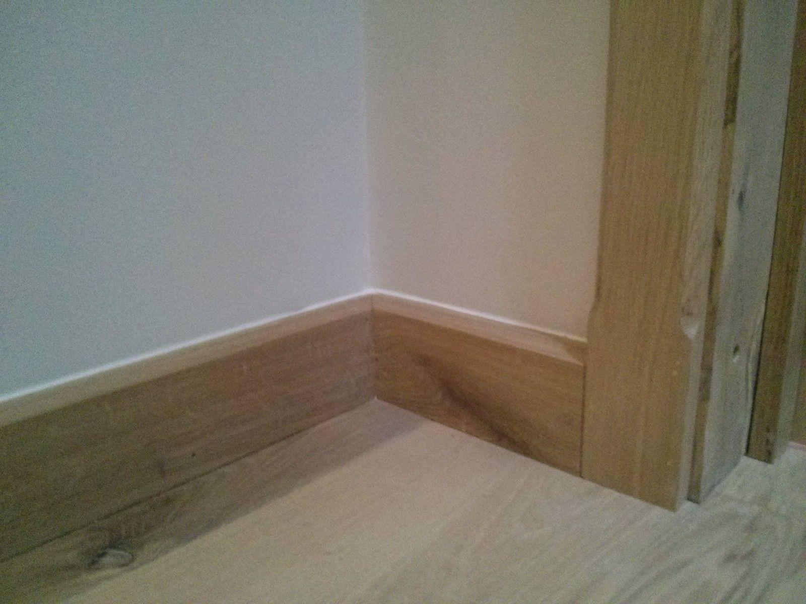 Solid Oak 150mm 6 Skirting Chamfer Edged Oak Flooring Man
